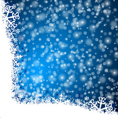 happy new year illustration with snow flakes