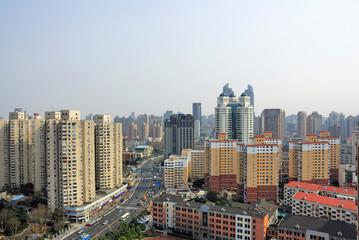 China Shanghai Puxi skyline
