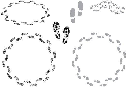 Footprints and going round in circles