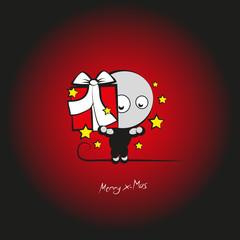 merry x-mas drollig