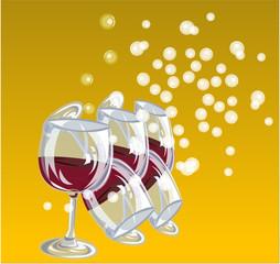 glass in wine