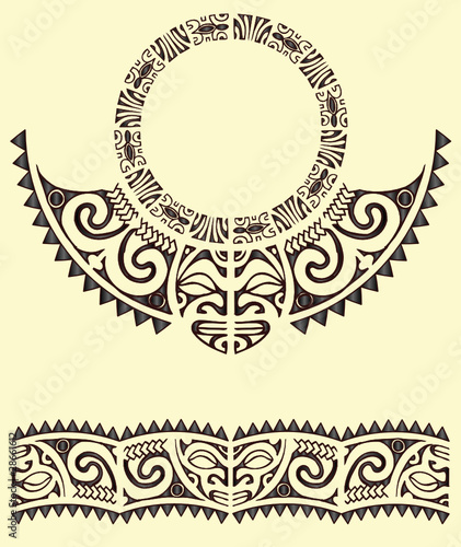 tribal maori armband stock image and royalty free vector. Black Bedroom Furniture Sets. Home Design Ideas
