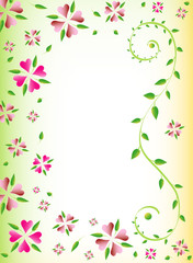 Floral background, place for your text, vector