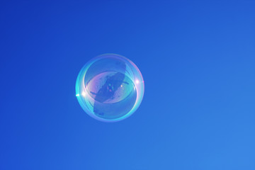 Bubble against a blue sky background