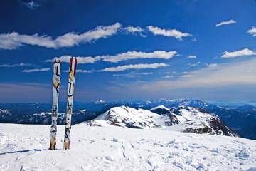 Alone ski tour in the Alps