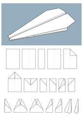 Paper airplane - Origami.