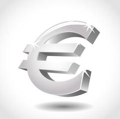 vector illustration of a euro symbol