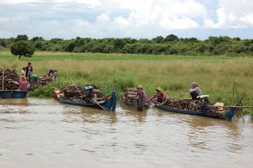 Transport fluvial du bois