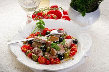 tuna messinese recipe-tonno alla messinese