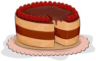 Choco Strawberry Cake