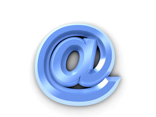Abstract stylized E-mail symbol
