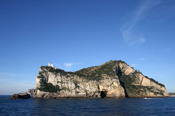 Fototapete - Capo Miseno visto dal mare