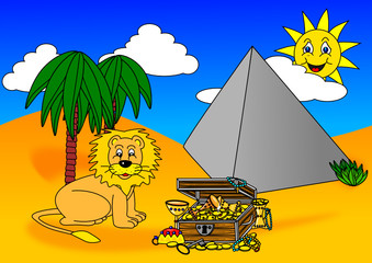 Lion Treasure Pyramid