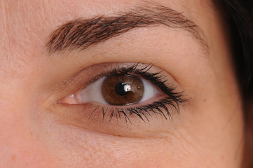Auge, Frau, braun, nah 1
