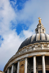 A crop of the dome of St Paul's Cathedral in London