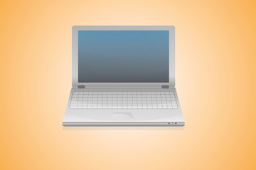 High detailed vector laptop