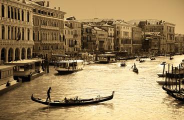 Venice in sepia toned