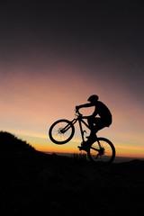 VTT un matin dh'iver sur les sommets