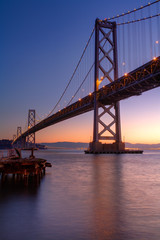 Bay Bridge at dawn in San Francisco
