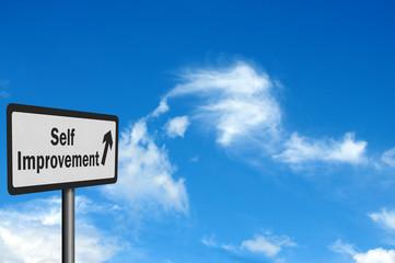Photo realistic 'self improvement' sign