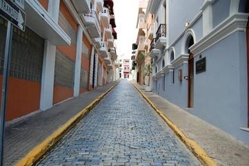 Cobblestone street in Puerto Rico