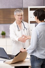 Doctor meeting patient