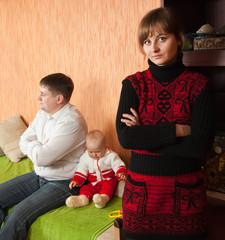 Family having quarrel