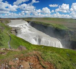 Gullfoss fall on the Iceland