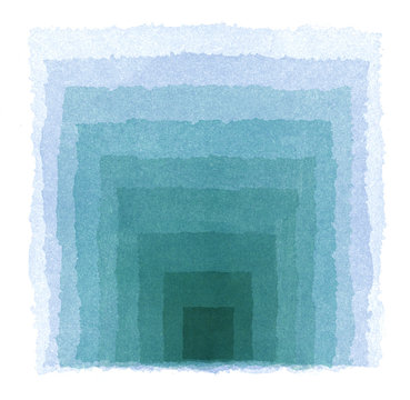水彩による青のグラデーション