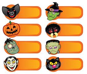Halloween Character Labels