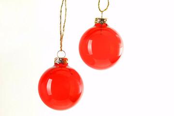 rote Weihnachteskugeln
