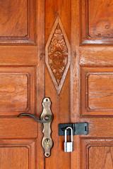 ancient teak door & lock