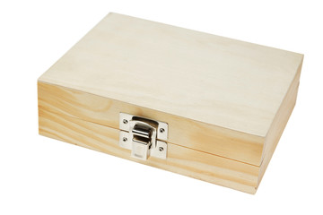 Isolated Wooden box.