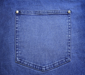 blue jeans pocket close up