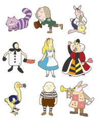 cartoon Alice in Wonderland
