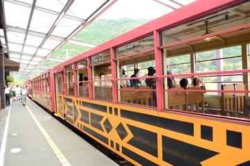 京都嵯峨野嵐山トロッコ電車