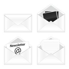 Set of e-mail icon