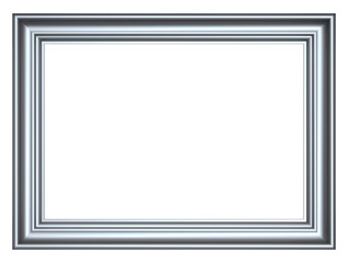 Silver frame isolated on white background