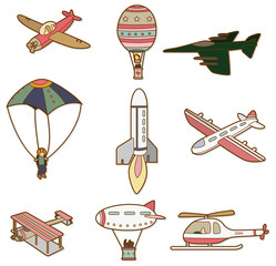 cartoon air transport icon