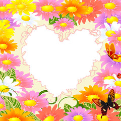 frame is the heart of the daisies