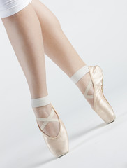 detail of ballet dancer's feet
