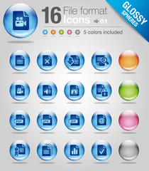 Glossy spheres - File format 01