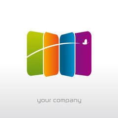 logo entreprise, papillon