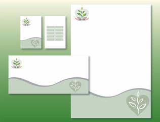 Charte Graphique Plante Coeur Main