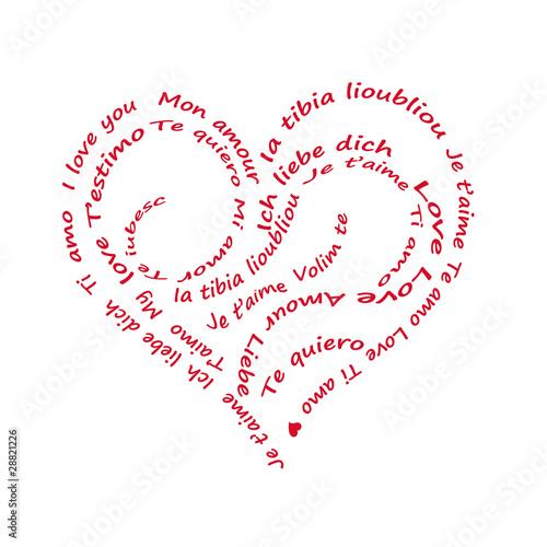 Coeur de mots d 39 amour dans plusieurs langues photo libre - Photo de coeur d amour ...