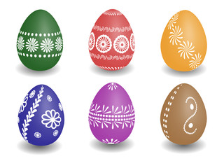wax painted easter eggs vector