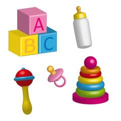 objetos de bebé en 3d