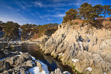 winter rocky seascape