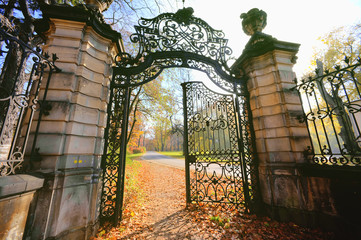 Gate in the park