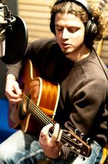 Studiosession mit Gitarre